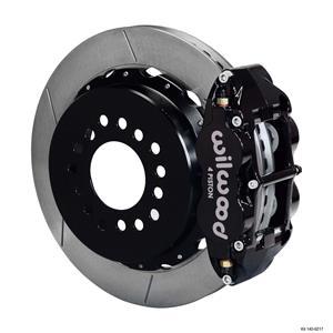 """Wilwood Ford Rear Disc Big Brake Kit 9"""" Big Bearing w/ 2.36"""" Offset Plain Black"""