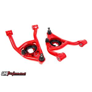 UMI Performance 4031-R GM A-Body UMI Performance Lower Front Control Arm Kit Poly Bushing - Red
