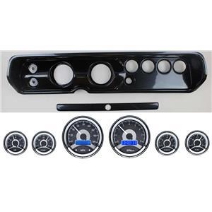 "64-65 Chevelle Carbon Dash Panel w/ Dakota Digital 3-3/8"" VHX-1060 Gauges"