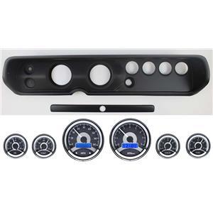 "64-65 Chevelle Black Dash Panel w/ Dakota Digital 3-3/8"" VHX-1060 Gauges"