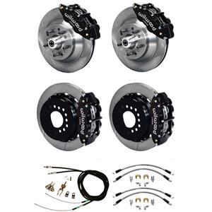"Wilwood 73-77 El Camino 4 Wheel Disc Brake Kit 13"" Plain Rotor Black Caliper"