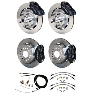 "Wilwood 70-78 Camaro 4 Wheel Disc Brake Kit 12"" Plain Rotor Black Caliper"