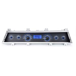 1966-67 Chevy Chevelle VHX System, Carbon Fiber Face - Blue Display