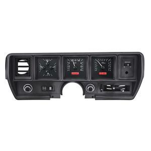 Dakota Digital 70-72 Buick Skylark/GS Analog Gauges Black Red VHX-70B-SKY-K-R