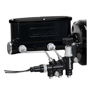 """Wilwood 7/8"""" Tandem Aluminum Master Cylinder Black w/ Proportioning Valve"""