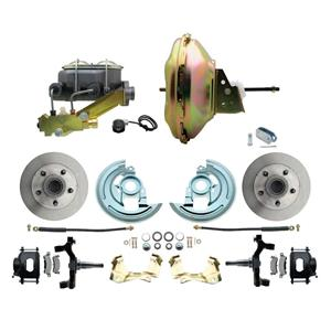 "67-72 A-body Front Power Disc Brake 11"" Standard Rotor Black Caliper 2"" Drop"