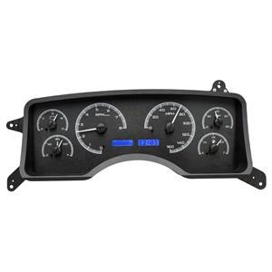 Dakota Digital 90-93 Ford Mustang Analog Gauges Black Alloy Blue VHX-90F-MUS-K-B