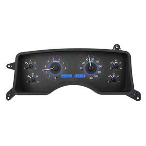 Dakota Digital 90-93 Ford Mustang Analog Gauges Carbon Blue VHX-90F-MUS-C-B