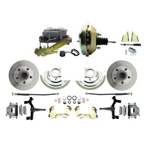 "64-72 A-body Front Power Disc Brake 9"" Standard Rotor Raw Caliper 2"" Drop"