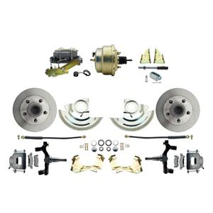 "F/X Body Front Power Disc Brake 8"" Standard Rotor Raw Caliper 2"" Drop"