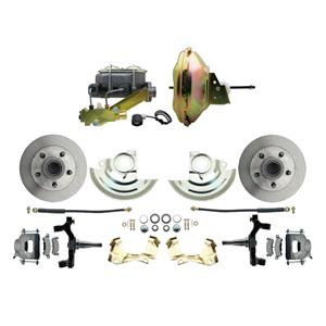 "67-72 A-body Front Power Disc Brake 11"" Standard Rotor Raw Caliper 2"" Drop"