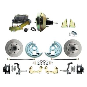 "F/X Body Front Power Disc Brake 9"" Standard Rotor Black Caliper No Drop"