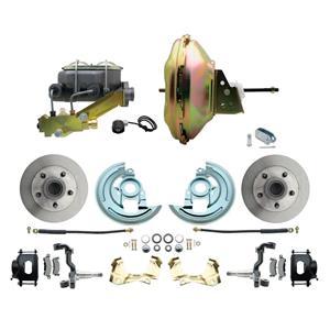 "67-72 A-body Front Power Disc Brake 11"" Standard Rotor Black Caliper No Drop"