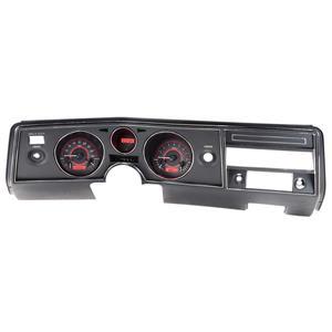 Dakota Digital 69 Chevy Chevelle Analog Gauges Carbon Red VHX-69C-CVL-C-R