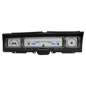 Dakota Digital 68 Chevy Impala VHX Analog Dash Gauges Silver Alloy Blue VHX-68C-IMP-S-B