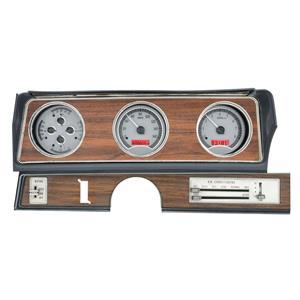 Dakota Digital 70-72 Oldsmobile Cutlass Analog Gauges Silver Red VHX-70O-CUT-S-R