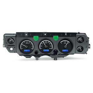 Dakota Digital 70-72 Chevy Chevelle VHX Analog Gauges Black Blue w/ Carrier