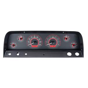 1964-66 Chevy Truck VHX System, Carbon Fiber Face - Red Display