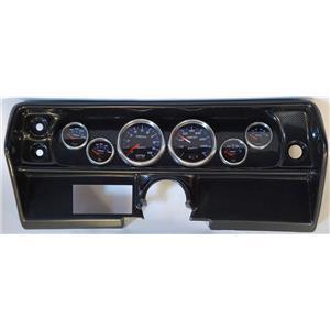 68 Nova Carbon Dash Carrier w/Auto Meter Cobalt Gauges