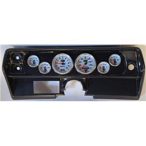 68 Nova Carbon Dash Carrier w/Auto Meter NV Gauges