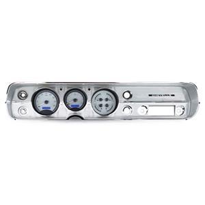 Dakota Digital 65 Chevy Chevelle VHX Analog Gauges Silver Blue w/ Carrier