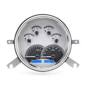 1949-50 Chevy Car VHX System, Silver Face - Blue Display