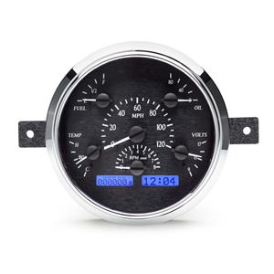 49-50 Ford VHX System, Black Face - Blue Display