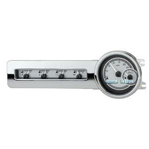 Dakota Digital 41-48 Chevy Car Analog Dash Gauge System Silver Alloy White VHX-41C-S-W