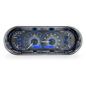 Rounded Rectangle VHX System, Carbon Fiber Style Face, Blue Display