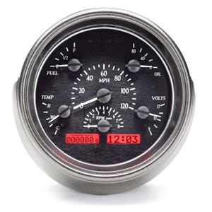 1951 Ford VHX System, Black Face - Red Display