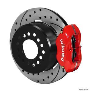"Wilwood Mopar Rear Disc Brake Kit 12"" Dana 60 8-3/4, 9-3/4 w 2.36 Off Set DR Red"