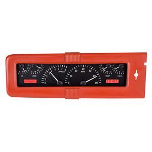 Dakota Digital 40 Chevy Car Analog Dash Gauges System Black Alloy Red VHX-40C-K-R