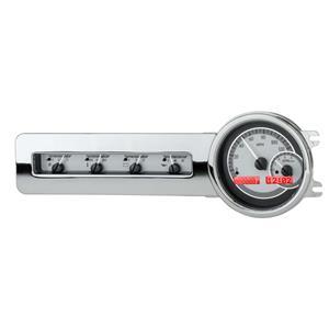 Dakota Digital 41-48 Chevy Car Analog Dash Gauge System Silver Alloy Red VHX-41C-S-R