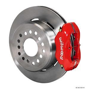 "Wilwood Rear Disc Brake Kit BOP Rear End w/ 2.75"" Offset Plain Rotor Red Caliper"