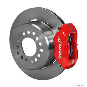 "Wilwood Rear Disc Brake Kit Small Ford 9"" w/ 2.66 Offset 12.19"" Plain Rotor Red"