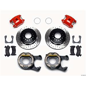 "Wilwood Rear Disc Brake Kit 12"" Chevy 10/12 Bolt w/ 2.81"" Offset Drilled Stg Red"