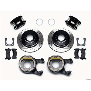 "Wilwood Rear Disc Brake Kit 12"" Chevy 10/12 Bolt w/ 2.81"" Offset Drill Stg Black"
