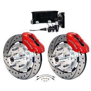Wilwood 68-74 Nova X-Body Manual Front Disc Big Brake Kit Drilled 12""