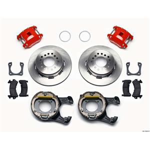 "Wilwood Rear Disc Brake Kit 12"" Chevy 10/12 Bolt w/ 2.81"" Offset Plain Stagg Red"