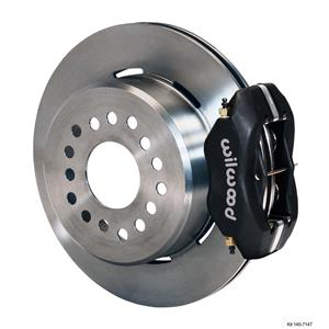 "Wilwood Rear Disc Brake Kit BOP Rear End w/ 2.81"" Offset Plain Black Caliper"