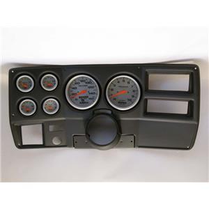 "73-83 GM Truck Black Dash Carrier w/ Auto Meter 5"" Ultra-Lite Electric Gauges"