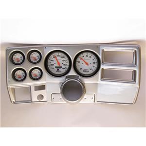 "73-83 GM Truck Silver Dash Carrier w/ Auto Meter 5"" Phantom Electric Gauges"