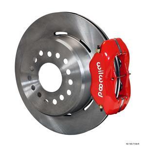 "Wilwood Rear Disc Brake Kit Big Ford 9"" w/ 2.36 Offset 12.19"" Plain Red Caliper"
