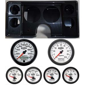 78-81 Chevy G Body Carbon Dash Carrier w/Auto Meter Phantom II Gauges