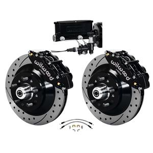 Wilwood 64-72 Chevelle A-Body Manual Front Disc Big Brake Kit Drilled 13""