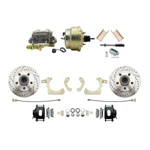 """MBM Front Disc Brake Power Kit 8"""" Booster Drilled Slotted DBK5558LXB-GMFS1-204"""