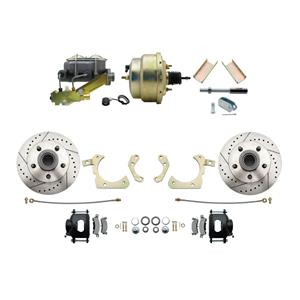 "MBM Front Disc Brake Power Kit 8"" Booster Drilled Slotted DBK5558LXB-GMFS1-205"