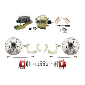 """MBM Front Disc Brake Power Kit 8"""" Booster Drilled Slotted DBK5558LXR-GMFS1-205"""
