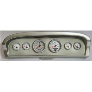 61-66 Ford Truck Silver Dash Carrier w/Auto Meter Ultra Lite II Gauges