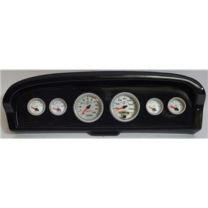 61-66 Ford Truck Carbon Dash Carrier w/Auto Meter Ultra Lite II Gauges